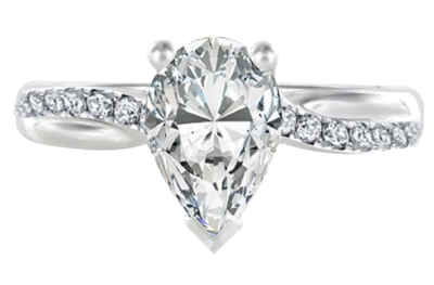 Infinity Pear & Round Diamond Engagement Ring DHDOMR11218PR Image