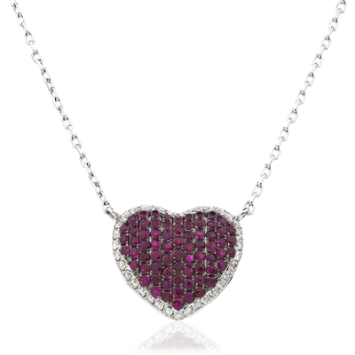 Round Diamond & Ruby Necklace DHLMJXYN1135RY Image