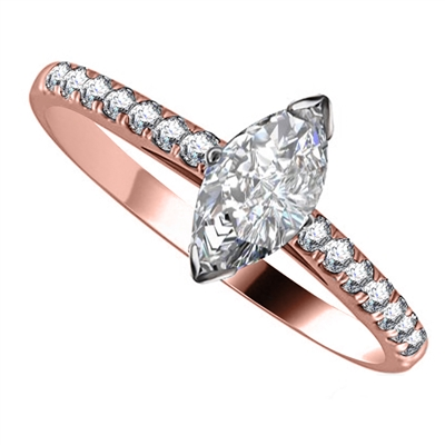 Marquise Diamond Shoulder Set Ring DHRX3281 Image