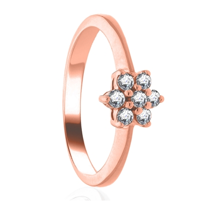 0.25CT Modern Flower Round Diamond Cluster Ring DHLMJXYR5163 Image