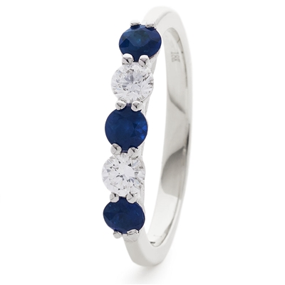 0.50CT Blue Sapphire and Diamond Eternity Ring DHLMJXYR6745BS Image