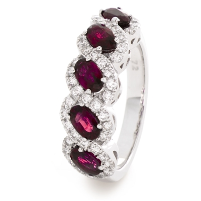 2.20CT Red Ruby and Diamond Eternity Ring DHLMJSL7981RY Image