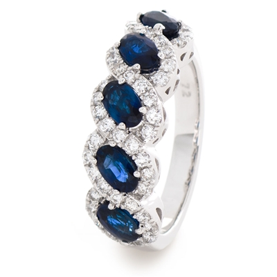 2.20CT Blue Sapphire and Diamond Eternity Ring DHLMJSL7981BS Image