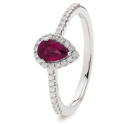 0.70ct Ruby & Diamond Cluster Ring DHLMJSL7304RYC Image