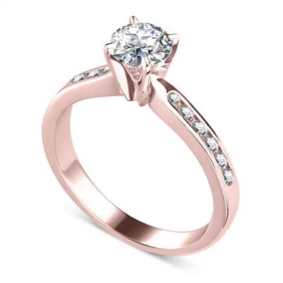 Shoulder Set Diamond Engagement Ring DHDOMM66A1C Image