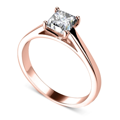 Princess Diamond Engagement Ring DHDOMR12234 Image