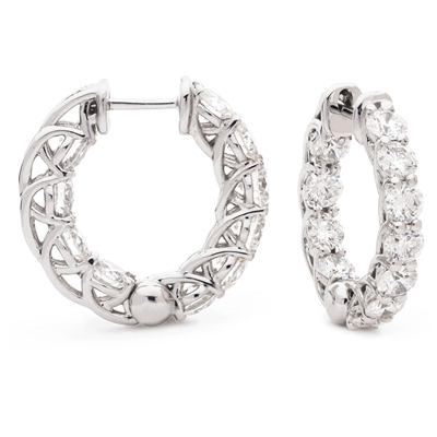 3.00CT Modern Round Diamond Hoop Earrings DHLMJXYE2495 Image