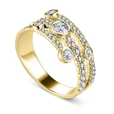 0.90CT Round Diamond Dress Ring DHDOMRL113 Image