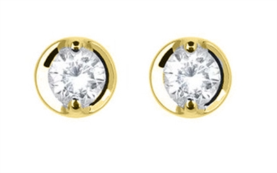 0.20ct Classic Round Diamond Earrings DHDOMHE020PRS Image