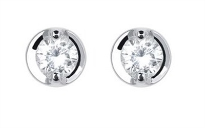 0.50ct Classic Round Diamond Earrings DHDOMHE024PRS Image