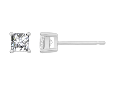 0.50CT VS/EF Princess Diamond Stud Earrings DHJXLSB1846 Image
