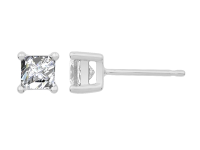 0.70CT VS/EF Princess Diamond Stud Earrings DHJXLSB1847 Image