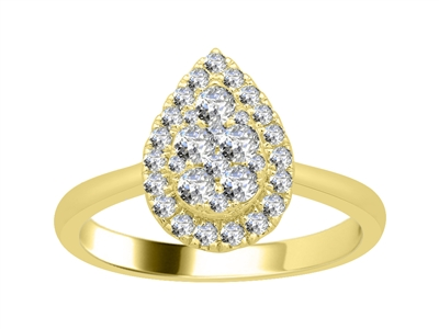 0.50CT VS/EF Elegant Round Diamond Cluster Ring DHJXJEU9345 Image