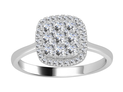 0.50CT VS/EF Elegant Round Diamond Cluster Ring DHJXJEU9352S Image