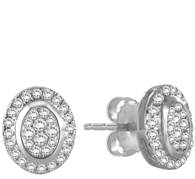 0.50CT VS/EF Round Diamond Cluster Earrings DHROSEF9510/SRSN791 Image