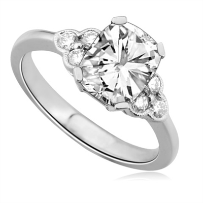 Unique Radiant & Round Designer Diamond Ring DHDOMDSE2RA Image