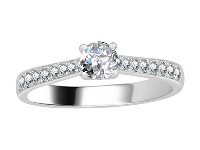 0.55ct VS/F Diamond Shoulder Set Ring DHJXJEU9118S/SLJH011AD Image