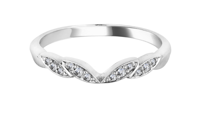 0.10CT VS/FG Round Diamond Shaped Wedding Ring DHWS102 Image