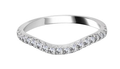 3mm VS/FG Round Diamond Shaped Wedding Ring DHWS1143 Image