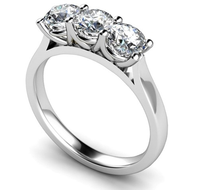 Traditional Round Diamond Trilogy Ring DHMT03414 Image