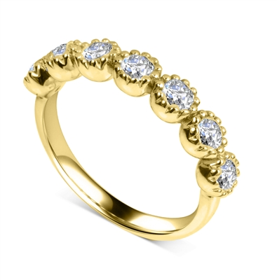 7 Stone Round Diamond Half Eternity Ring DHDOMHET20167 Image