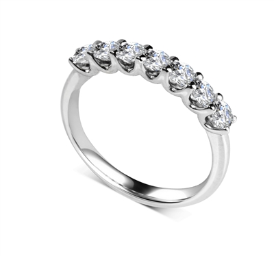 7 Stone Round Diamond Half Eternity Ring DHDOMHET20187 Image