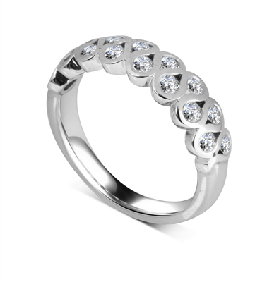 Two Row Round Diamond Eternity Ring DHDOMHET2020 Image