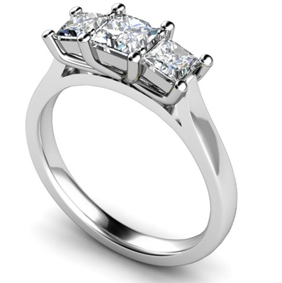 Traditional Princess Diamond Trilogy Ring DHMT03346 Image