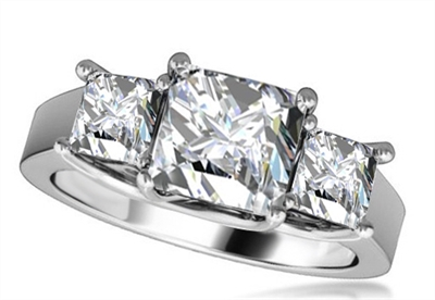 Classic Princess Diamond Trilogy Ring DHRZ0943 Image