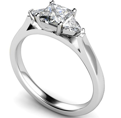 Modern Princess & Trillian Diamond Trilogy Ring DHMT03378 Image