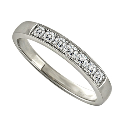 0.25CT VS/EF Elegant Round Diamond Eternity Ring DHJXZHM00432 Image