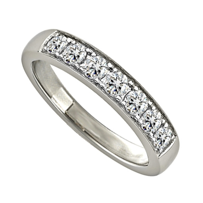 0.50CT VS/EF Elegant Round Diamond Eternity Ring DHJXZHM00434 Image