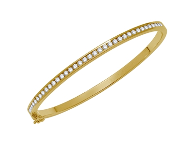 1.00CT VS/EF Elegant Round Diamond Set Bangle DHJXBG0321 Image
