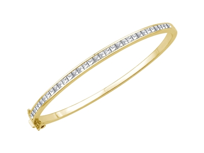 2.00CT VS/EF Elegant Princess Diamond Set Bangle DHJXBG0340 Image