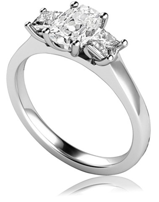 Classic Cushion & Princess Diamond Trilogy Ring DHMT03434CU Image