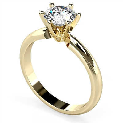 Round Diamond Engagement Ring DHDOMR12001 Image
