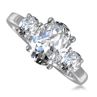 060f1a5acde59 Traditional Oval & Round Diamond Trilogy Ring