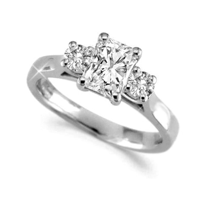 Classic Radiant & Round Diamond Trilogy Ring DHMT03343RA Image