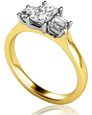 Modern Radiant & Princess Diamond Trilogy Ring DHMT03409RA Image