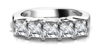 5 Stone Princess Diamond Half Eternity Ring DHRZ0207 Image