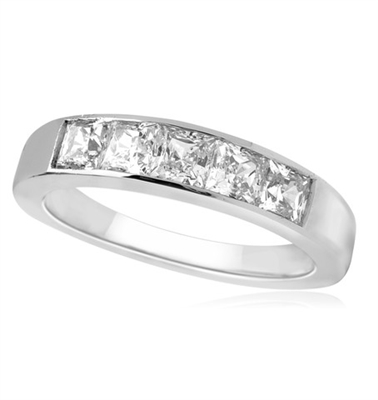 5 Stone Princess Diamond Half Eternity Ring DHHET224 Image