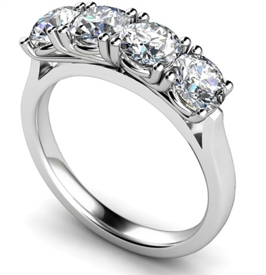 Classic Four Stone Round Diamond Eternity Ring DHMT04009 Image