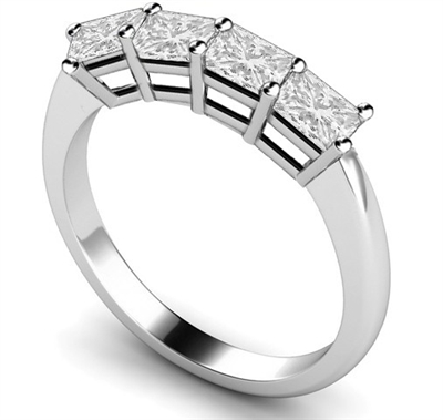 Four Stone Princess Diamond Half Eternity Ring DHMT04002PRI Image