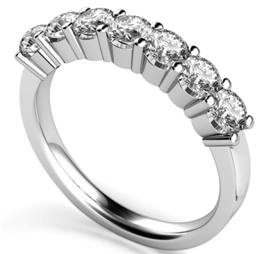 7 Stone Round Diamond Half Eternity Ring DHMT07065 Image