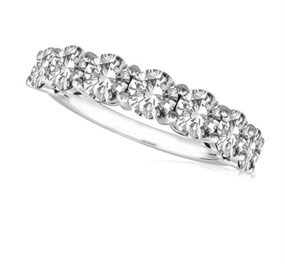 7 Stone Round Diamond Half Eternity Ring DHRZ0076 Image
