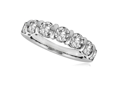 7 Stone Round Diamond Half Eternity Ring DHRZ0091 Image