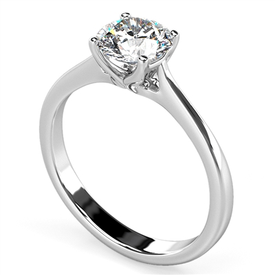 Round Diamond Engagement Ring DHDOMR197 Image