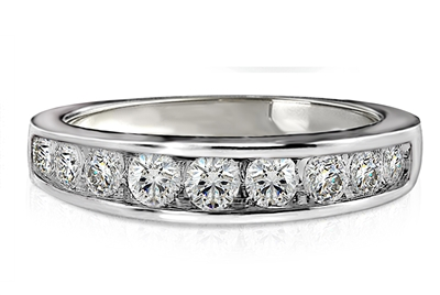 Round Channel set Diamond Eternity Ring ER022 Image
