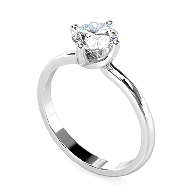 Round Diamond Engagement Ring DHDOMR1137 Image