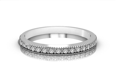 Classic Round Diamond Half Eternity Ring DHRZ0309 Image